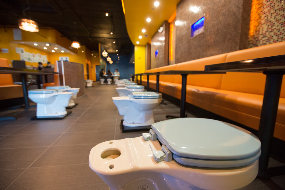 Toilet Themed Restaurant Unusual Places