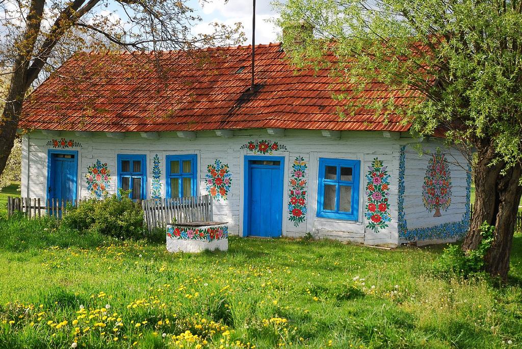 Zalipie Poland Painted Village Flowers